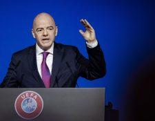 Gianni Infantino, presidente de la Fifa apuesta por el poder del futbol. (Foto Prensa Libre: AFP)