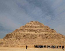 La piramide de Zoser en su momento fue la construcción más alta hecha por el hombre con 62 metros de altura. Fotografía Prensa Libre: AFP