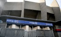 A photograph taken on March 9, 2020 shows a view of a gate of the Parc des Princes stadium in Paris, two days ahed of the UEFA Champions League Group A football match between Paris Saint-Germain (PSG) and Dortmund. - Champions League round of 16 return leg football match between Paris Saint-Germain (PSG) and Dortmund will be played behind closed doors due to the COVID-19 outbreak. (Photo by FRANCK FIFE / AFP)