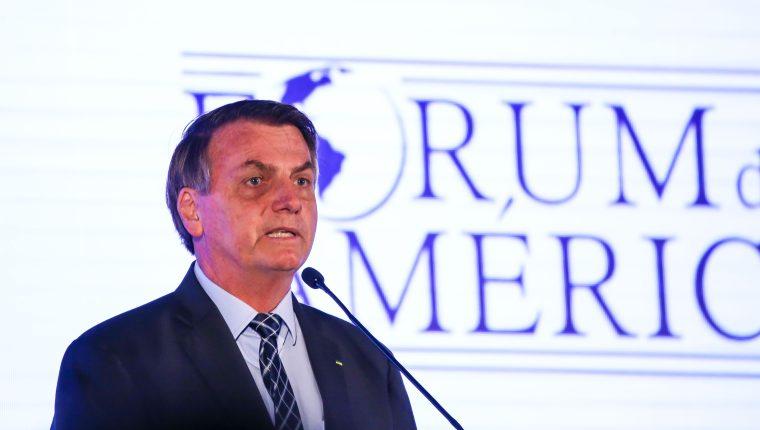 El presidente brasileño, Jair Bolsonaro. (Foto Prensa Libre: AFP).