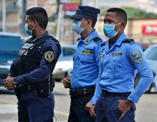 Honduras prohíbe el tránsito de personas. (Foto Prensa Libre: AFP)