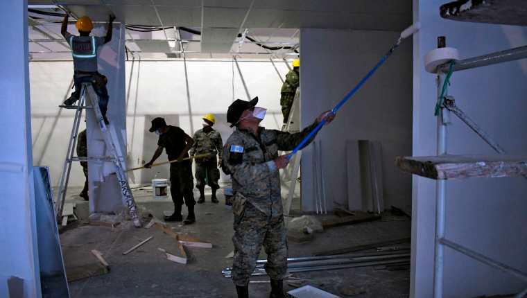 El Parque de la Industria alberga un hospital de campaña para atender a pacientes con covid-19. (Foto Prensa Libre: Hemeroteca PL)