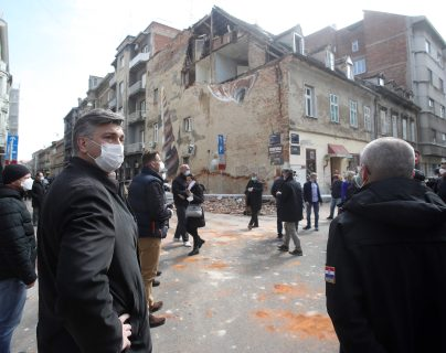 El equipo croata ayuda a país de Coronavirus y un terremoto. (Foto Prensa Libre: AFP)