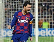 Lio Messi hizo un donativo en Euros para el combate al coronavirus. (Foto Prensa Libre: AFP)