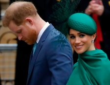 (FILES) In this file photo Britain's Prince Harry, Duke of Sussex, (L) and Meghan, Duchess of Sussex arrive to attend the annual Commonwealth Service at Westminster Abbey in London on March 09, 2020. - President Donald Trump said March 29, 2020 that the United States would not pay security costs for Prince Harry and his wife Meghan, appearing to confirm that the royal couple have moved to live in California.They reportedly flew by private jet from Canada to Los Angeles before the border between the two countries closed because of the deadly coronavirus outbreak. (Photo by Tolga AKMEN / AFP)