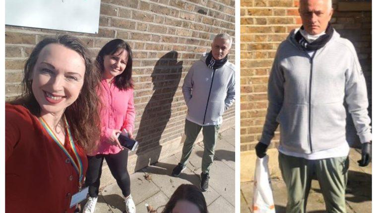 José Mourinho está apoyando en un centro social para ancianos, en Londres. (Foto Prensa Libre: Twitter)