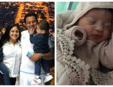 Amarini Villatoro y su esposa le dieron la bienvenida a su hija Gianna Alejandra. (Foto Prensa Libre: Cortesía Amarini Villatoro)