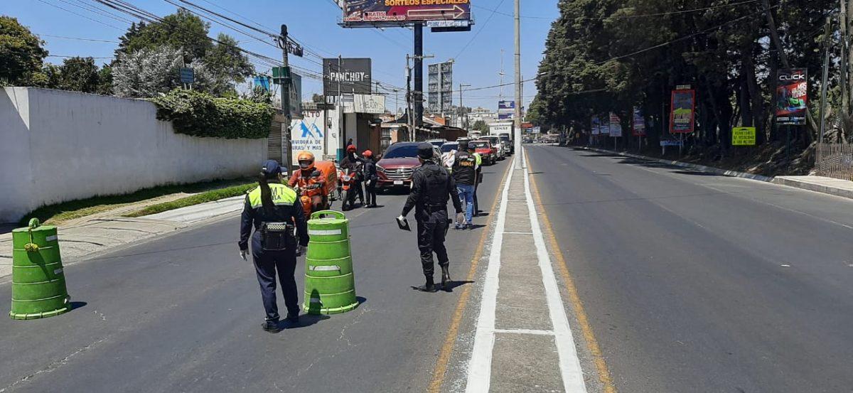 Coronavirus: Intensifican operativos de tránsito en Xela para evitar circulación de vehículos sin justificación