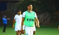 El capitán de la Bicolor, Carlos Gallardo, disfruta cada momento con la Selección. (Foto Prensa Libre: Luis López)