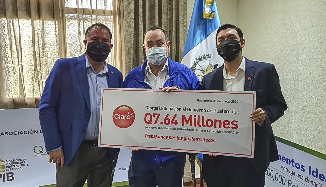 Coronavirus: Claro Guatemala dona Q7.64 millones en productos por crisis
