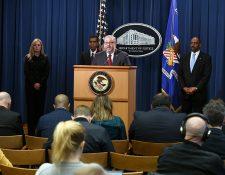 Autoridades del Departamento de Justicia de EE. UU. dan a conocer resultados del operativo Python. (Foto Prensa Libre: @TheJusticeDept)