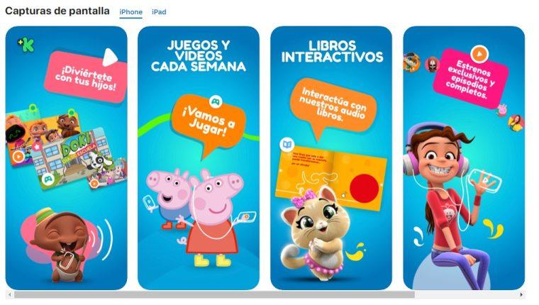 En el app podrá interactuar con los personajes favoritos del canal. (Foto Prensa Libre).