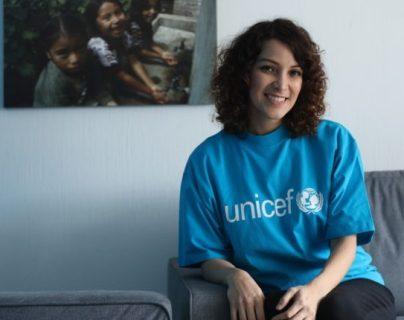 Gaby Moreno fue nombrada Embajadora Nacional por la defensa de la infancia por Unicef en febrero pasado. (Foto Prensa Libre: Keneth Cruz).