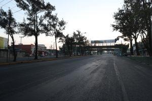 El ingreso a la colonia Bethania en la zona 7 se ve desierto justo antes del ocaso, por el lugar pasan las personas que se dirigen a la Universidad de San Carlos, el sur de la capital, el Naranjo y Mixco. Foto Prensa Libre: Óscar Rivas
