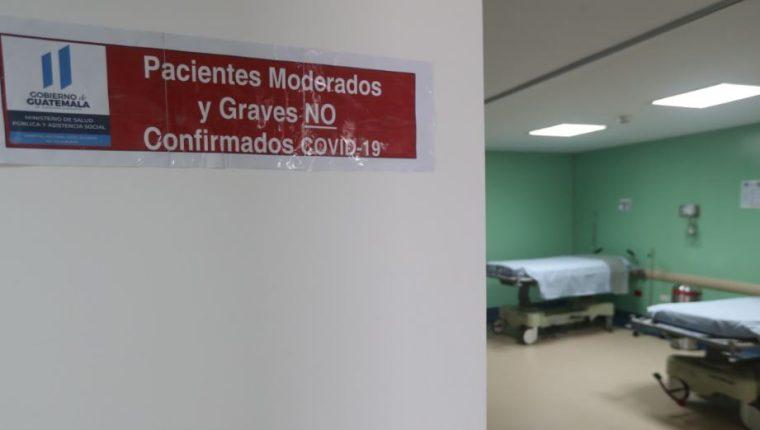 Hospital donde se recupera el paciente con coronavirus. (Foto Prensa Libre: Hemeroteca PL).