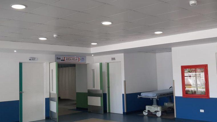 Autoridades de Salud habilitaron un área en el Hospital de Villa Nueva para atender posibles casos de coronavirus en Guatemala. (Foto Prensa Libre: Andrea Domínguez)