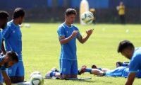 Jairo Arreola, durante el entrenamiento de la Selección de Guatemala, en el CAR. (Foto Prensa Libre: Jeniffer Gómez)