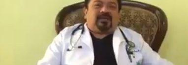 El médico Rodolfo García Escobar quedó ligado a proceso por ofrecer supuestas vacunas contra el coronavirus. (Foto: Captura de pantalla de video).