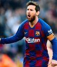 El argentino Leo Messi publicó en su cuenta de Instagram que se bajarán el sueldo en 70% por la crisis mundial de coronavirus. (Foto Prensa Libre: EFE)