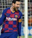 Lionel Messi en una de las fotos de los últimos juegos del club catalán antes del parón por el coronavirus (Photo by LLUIS GENE / AFP)