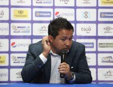 Amarini Villatoro, técnico de la Selección de Guatemaa. (Foto Prensa Libre: Óscar Rivas)