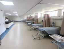 Instalaciones del hospital de Villa Nueva, donde están internados pacientes positivos de covid-19 y personas en cuarentena. (Foto Prensa Libre: Hemeroteca PL)