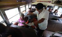 El servicio de transporte público se prepara para retomar sus actividades en medio de la crisis del coronavirus. (Foto Prensa Libre: Hemeroteca PL)