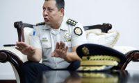 Ervin Mayen. Director de la Polic'a Nacional Civil, (PNC) . Entrevista en su oficina.                                                                                                                                                                                           Fotograf'a  Esbin Garcia  24-02-2020