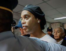Ronaldinho no pudo conseguir libertad durante una audiencia hoy. (Foto Prensa Libre: Hemeroteca PL)