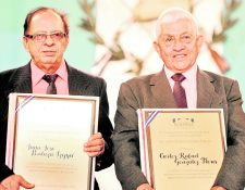 Juan José Pontaza, (izquierda) fue una de las leyendas del ciclismo guatemalteco. (Foto Prensa Libre: Hemeroteca PL)
