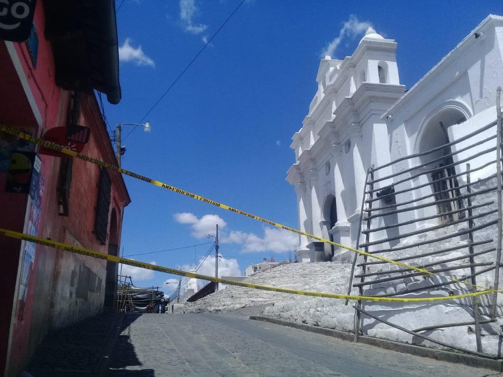 Chichicastenango, Quiché, uno de los centros del turismo en Guatemala cerró sus calles. Foto Prensa Libre: Héctor Cordero