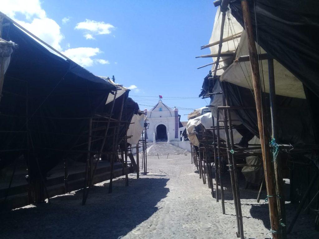 Las ventas de artesanías en Chichicastenango