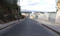 Calles de Chichicastenango, Quiché, vacías no hay transporte urbano ni extraurbano, (Foto Prensa Libre: Héctor Cordero)