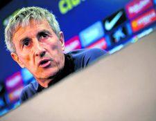 Quique Setién, entrenador del Barcelona. (Foto Prensa Libre: Hemeroteca PL)