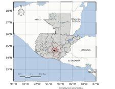 Mapa muestra epicentro del temblor de este martes 10 de marzo. (Imagen Conred).