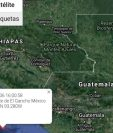 El epicentro del sismos fue en las costas de México. (Foto Prensa Libre: Conred).