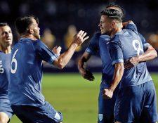 La Selección celebró el triunfo gracias a un gol de Stefano Cincotta. (Foto Prensa Libre: Hemeroteca PL)