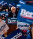 Bernie Sanders lidera las encuestas en estados importantes como California. (Foto Prensa Libre: AFP)