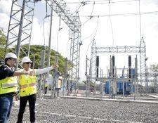 Trelec inauguró la subestación Guanagazapa Pasaco. Participaron el ministro de energía Alberto Pimenten y el gerente de Trelec Juan Carlos Echeverri. (Foto, Prensa Libre: MEM).