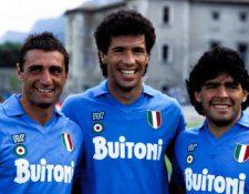 El Nápoli contó con grandes jugadores entre ellos Careca y Maradona. (Foto Prensa Libre: Redes)
