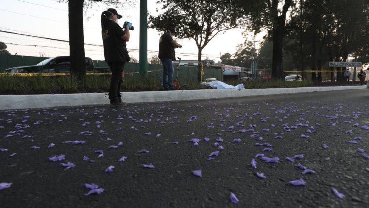 El Ministerio Público verifica el accidente reportado en la calzada Roosevelt. (Foto Prensa Libre: Óscar Rivas)