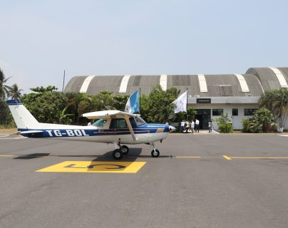 La construcción de una terminal aérea de carga en Escuintla es uno de los proyectos que mencionó el presidente Alejandro Giammattei durante un foro a un grupo de inversionistas estadounidenses. (Foto Prensa Libre: Hemeroteca)