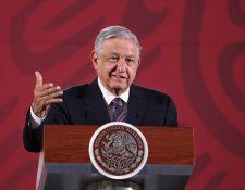 El presidente de México, Andrés Manuel López Obrador, durante una conferencia. (Foto Prensa Libre: EFE)