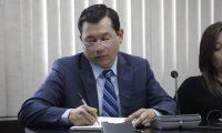 Armando Escribá, durante la audiencia judicial. (Foto Prensa Libre: Noé Medina)