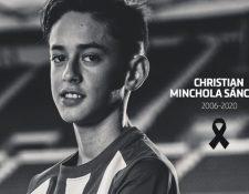 El jugador infantil del Atlético de Madrid falleció este sábado. (Foto Prensa Libre: Atlético de Madrid)