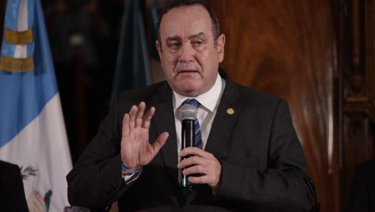 Alejandro Giammattei, presidente de Guatemala. (Foto Prensa Libre: Noé Medina)