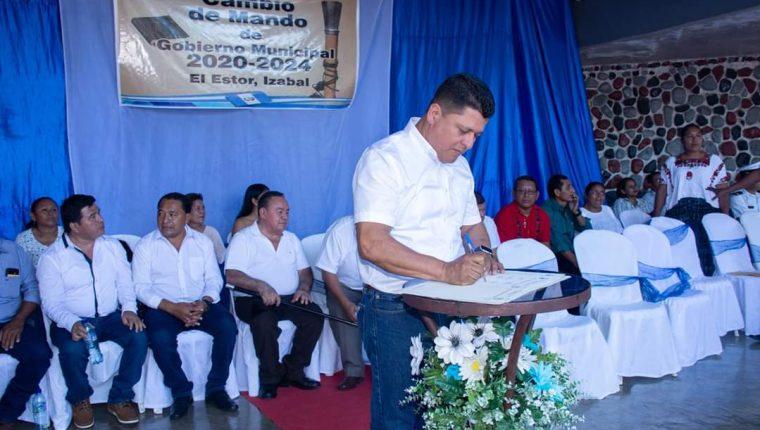 Marco Tulio Ochoa participó en la planilla del actual alcalde Joel Lorenzo Flores, de la Unidad Nacional de la Esperanza (UNE). (Foto Prensa Libre: Dony Stewart)