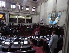 Hemiciclo del Congreso este 11 de marzo. (Foto Prensa Libre: Miriam Figueroa).