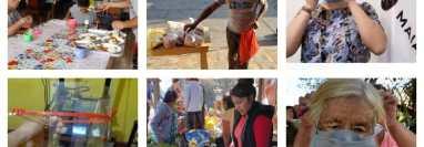 Ejemplos de solidaridad en la provincia durante el coronavirus. (Foto Prensa Libre)
