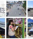 Calles sin personas,, comercios cerrados, poca afluencia vehícular, marcan el primer día de restricciones por la emergencia del Covid-19. (Foto Prensa Libre)